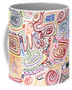 Abstract - Fabric Paint - Urban Society Coffee Mug by Mike Savad