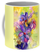 abstract Flower botanical watercolor painting print Coffee Mug