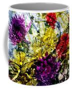 Abstract Flowers Messy Painting Coffee Mug