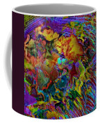 Abstract Fronds In Jewel Tones - Square Coffee Mug