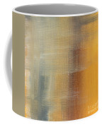 Abstract Golden Yellow Gray Contemporary Trendy Painting Fluid Gold Abstract I By Madart Studios Coffee Mug
