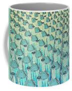 Abstract Green Glass Bottles Coffee Mug