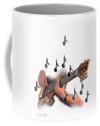 Abstract Guitar Player Coffee Mug