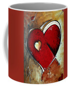 Abstract Heart Original Painting Valentines Day Heart Beat By Madart Coffee Mug