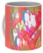 Abstract Hearts 16 Coffee Mug