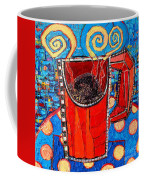 Abstract Hot Coffee In Red Mug Coffee Mug