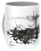 Modern Abstract Black Ink Art Coffee Mug