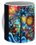 Abstract Landscap Art Original Circle Of Life Painting Sweet Serenity By Madart Coffee Mug