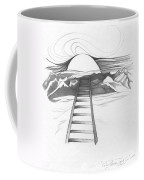 Abstract Landscape Art Black And White Baby Please Don't Go By Romi Coffee Mug