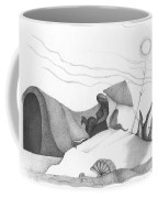 Abstract Landscape Art Black And White Beach Cirque De Mor By Romi Coffee Mug
