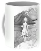Abstract Landscape Art Black And White Dream The Jumping Off Place By Romi Coffee Mug