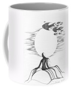 Abstract Landscape Art Black And White Goin South By Romi Coffee Mug by Megan Duncanson