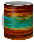 Abstract Landscape Art - Fire Over Copper Lake - By Sharon Cummings Coffee Mug