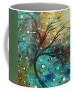 Abstract Landscape Art Original Colorful Heavy Textured Painting Cracked Facade By Madart Coffee Mug