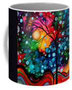 Abstract Landscape Colorful Contemporary Painting By Megan Duncanson Brilliance In The Sky Coffee Mug by Megan Duncanson