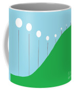 Abstract Landscape Lights On The Hill Coffee Mug