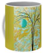 Abstract Landscape Painting Animal Print Pattern Moon And Tree By Madart Coffee Mug