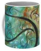 Abstract Landscape Painting Digital Texture Art By Megan Duncanson Coffee Mug