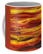 Abstract Landscape Yellow Hills Coffee Mug
