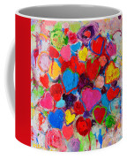 Abstract Love Bouquet Of Colorful Hearts And Flowers Coffee Mug