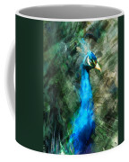 Abstract Marker Sketch Of Peacock Coffee Mug