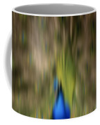 Abstract Moving Peacock  Coffee Mug by Georgeta Blanaru