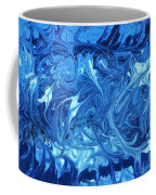 Abstract - Nail Polish - Ocean Deep Coffee Mug by Mike Savad