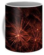 Abstract Of Fireworks On Black Coffee Mug