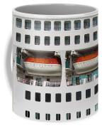 Abstract Of Lifeboats On A Large Cruise Ship Coffee Mug