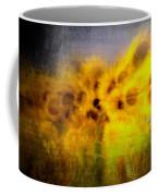 Abstract Of Sunflowers Coffee Mug
