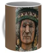 Abstract Of Wooden Indian Head Coffee Mug