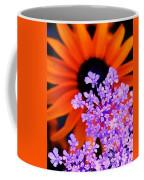 Abstract Orange And Purple Flower Coffee Mug