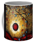 Abstract Original Gold Textured Painting Frosted Gold By Madart Coffee Mug