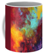 Abstract Original Painting Colorful Vivid Art Colors Of Glory II By Megan Duncanson Coffee Mug