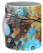 Abstract Painting Chocolate Brown Whimsical Landscape Art Baby Blues By Madart Coffee Mug