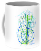 Abstract Pen Drawing Fifty-eight Coffee Mug
