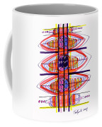 Abstract Pen Drawing Fifty Coffee Mug