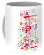Abstract Pen Drawing Fifty-two Coffee Mug