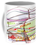 Abstract Pen Drawing Forty-five Coffee Mug