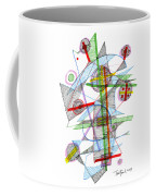 Abstract Pen Drawing Forty-nine Coffee Mug