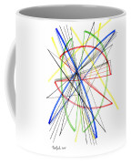 Abstract Pen Drawing Seventy-five Coffee Mug