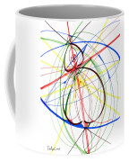 Abstract Pen Drawing Seventy-four Coffee Mug