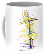 Abstract Pen Drawing Seventy-two Coffee Mug