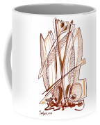 Abstract Pen Drawing Sixty-four Coffee Mug