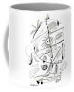 Abstract Pen Drawing Sixty-seven Coffee Mug