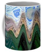 Abstract - Penguins On Ice Coffee Mug