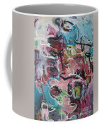 Abstract Pink Blue Painting Coffee Mug