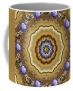 Abstract Pond In Gold Coffee Mug