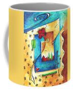 Abstract Pop Art Landscape Floral Original Painting Joyful World By Madart Coffee Mug
