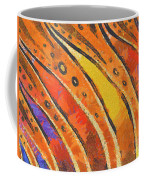 Abstract Rainbow Tiger Stripes Coffee Mug by Pixel Chimp